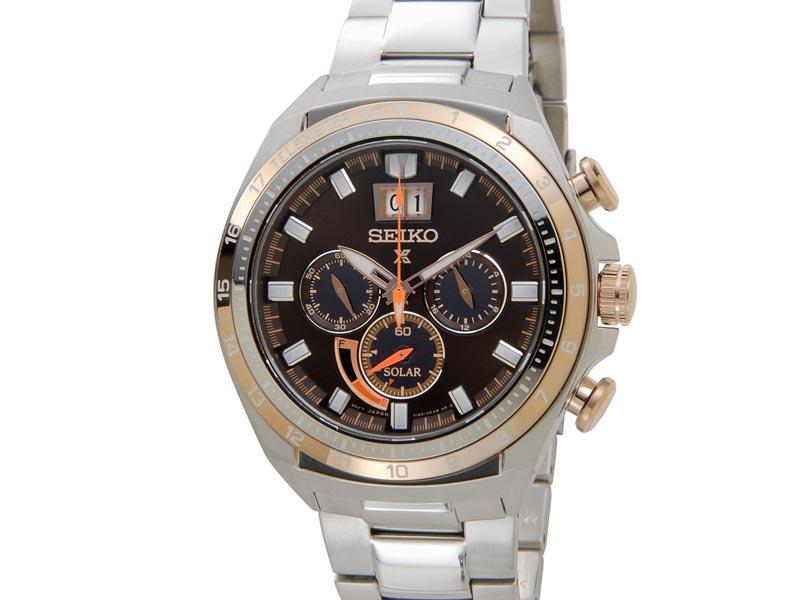 セイコー プロスペックス SEIKO PROSPEX メンズ 腕時計 SSC664P1 クロノグラフ ソーラー ウォッチ ブラウン