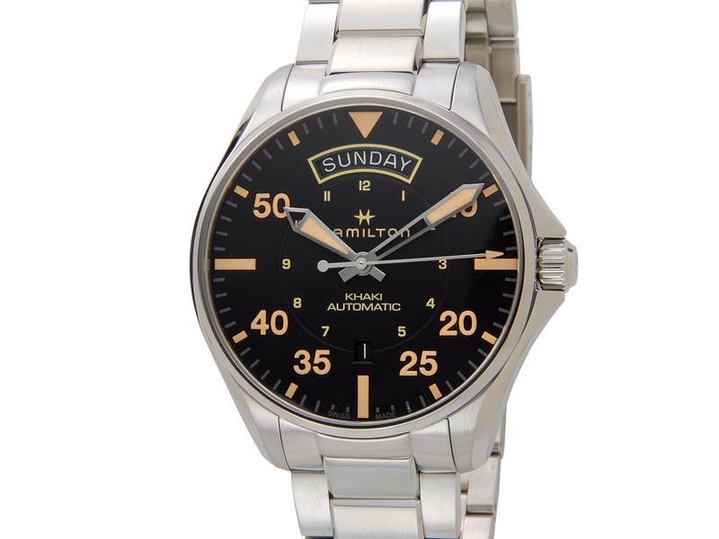 ハミルトン HAMILTON メンズ 腕時計 H64645131 Khaki カーキ アビエーション パイロット オート ブラック
