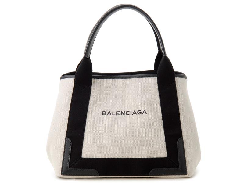 バレンシアガ BALENCIAGA トートバッグ 339933 AQ38N 1081 NAVY CABAS S ブラック 新品