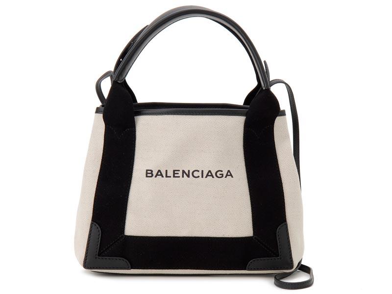 バレンシアガ BALENCIAGA トートバッグ バレンシアガ BALENCIAGA トートバッグ 390346-AQ38N-1081 NAVY CABAS XS AJ キャンバス ブラック 新品