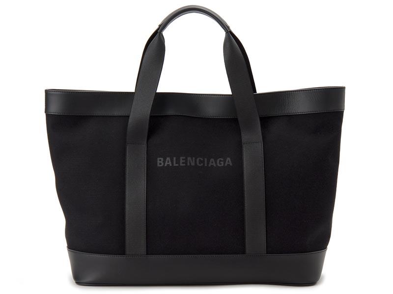 バレンシアガ BALENCIAGA トートバッグ 479290 AQ3AN 1000 NAVY TOTE キャンバス ブラック 新品