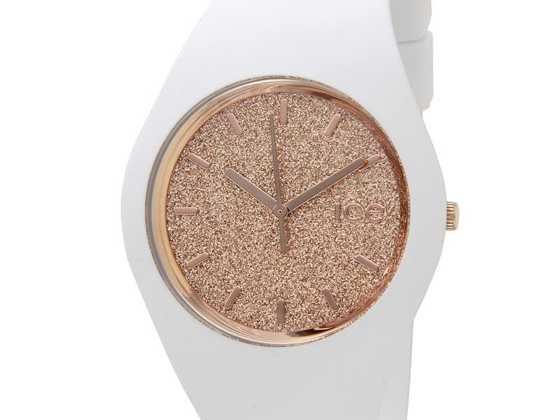 アイスウォッチ ICE WATCH 001350 Ice Glitter アイス グリッター 40mm ローズゴールド×ホワイト ユニセックス メンズ レディース 腕時計 新品