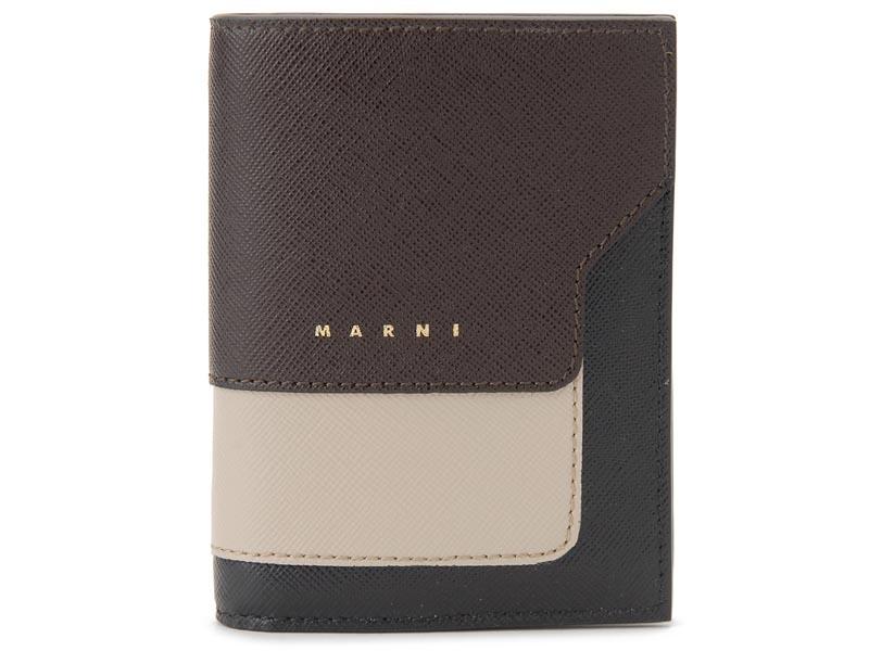 訳あり ロゴかすれ マルニ MARNI 二つ折り財布 レディース