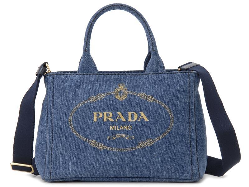 プラダ PRADA トートバッグ 1BG439 AJ6 F0008 CANAPA カナパ 2WAY ショルダーバッグ BLEU ブルー レディース 新品