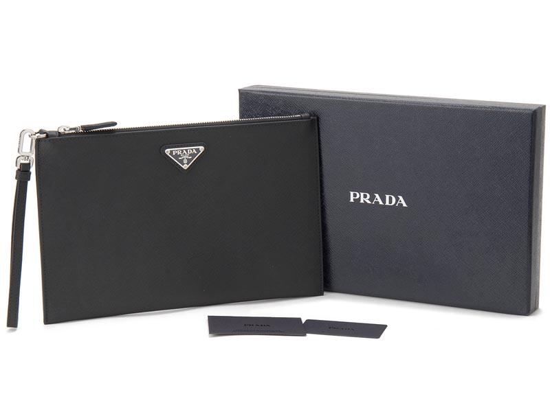 プラダ PRADA クラッチバッグ 2NH005 PN9 F0002 サフィアノ ロゴ バッグ セカンドバッグ NERO ブラック メンズ 新品mNn0wPv8yO