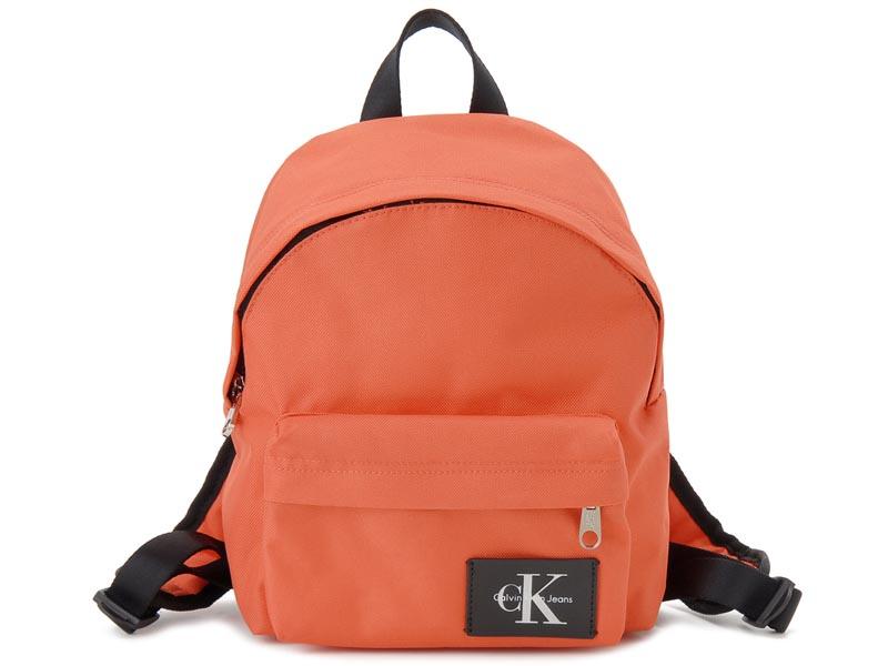 カルバンクライン Calvin Klein リュック 36201592 800 ナイロン バックパック オレンジ レディースまたはキッズ 新品