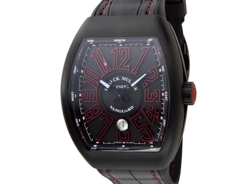 フランクミュラー FRANCK MULLER ヴァンガード V45SCDT クロコダイル×ラバー メンズ 腕時計 新品