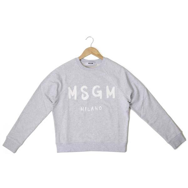 MSGM エムエスジーエム レディース トレーナー MDM189 297 94 XS/S/M スウェット グレー 【送料無料】