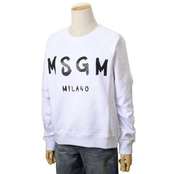 MSGM エムエスジーエム レディース トレーナー MDM189 299 01 XS/S/M スウェット ホワイト 【送料無料】