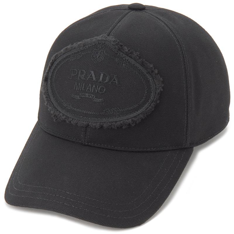 プラダ PRADA キャップ 帽子 1HC274 010 F0002 M ナイロン ロゴ ブラック メンズ レディース 新品