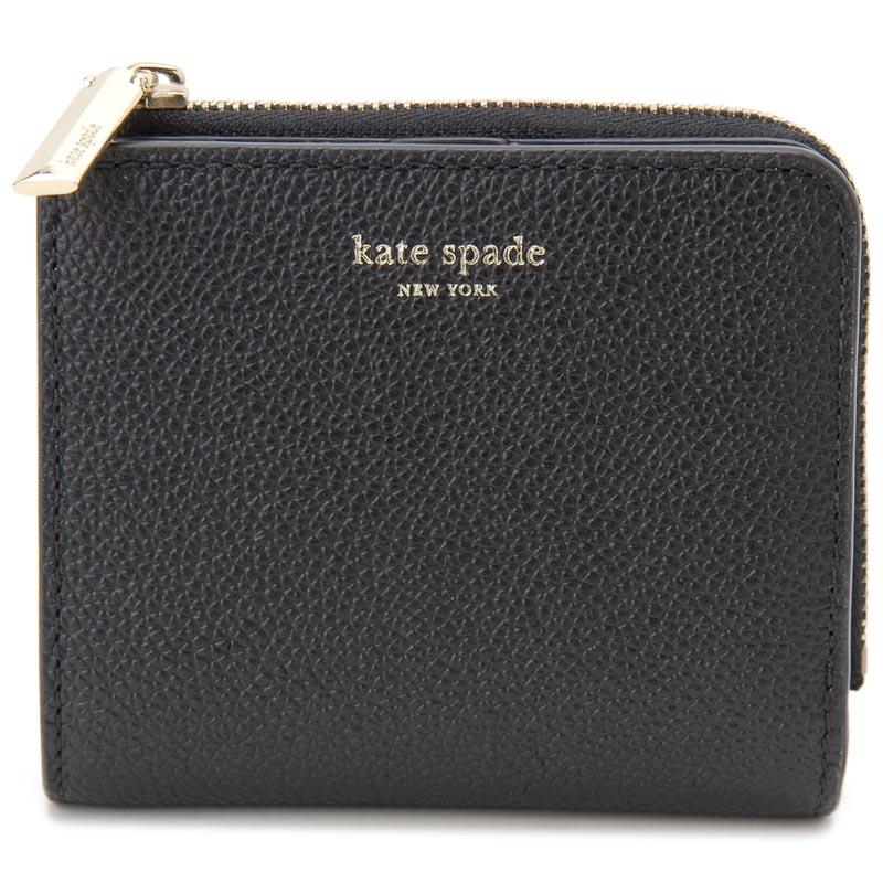 ケイトスペード Kate spade 二つ折り財布 PWRU7160 001 WELLESLEY CARA BLACK ブラック レディース 財布 新品 【送料無料】
