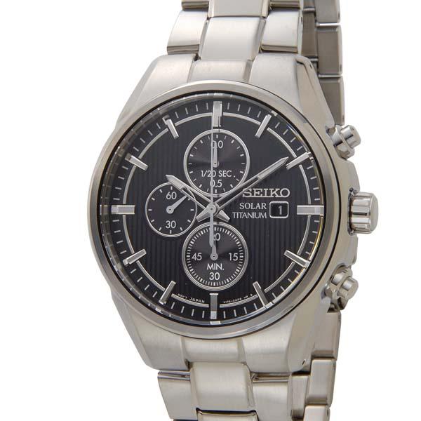 セイコー SEIKO オールチタン ソーラー クロノグラフ SSC367P1 軽量 チタンモデル ブラック 腕時計 メンズ [ポイント5倍キャンペーン][8/3~8/17]