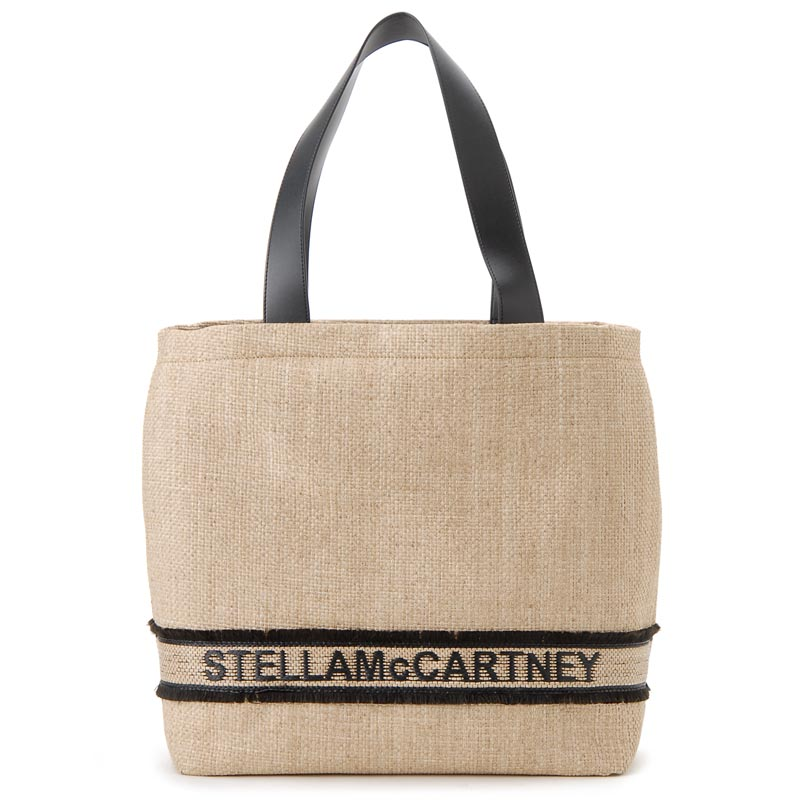 ステラマッカートニー Stella McCartney トートバッグ 570289W8510 9285 ラフィア×エコレザー カゴバッグ レディース