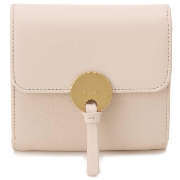 クロエ Chloe 三つ折り財布 レディース 16UP811 H8J 6J5 INDY インディ コンパクト財布 ピンク