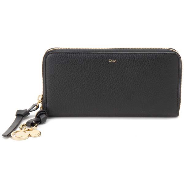 クロエ Chloe ラウンドファスナー長財布 レディース 17AP941 H9Q 001 ALPHABET アルファベット ブラック