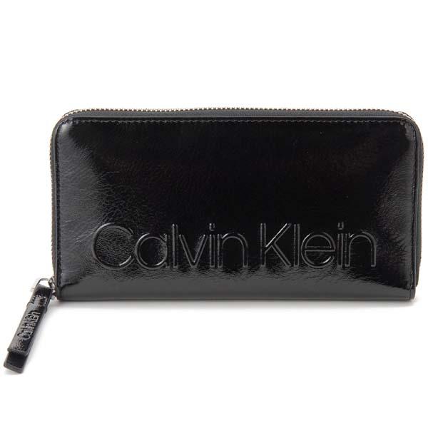 カルバンクライン Calvin Klein ラウンドファスナー長財布 CK Jeans ジーンズ ブラック メンズ レディース
