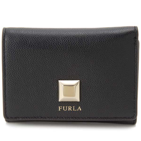 フルラ FURLA 三つ折り財布 ミミ S ブラック コンパクト財布 レディース 1023222