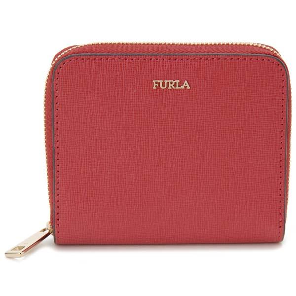 フルラ FURLA 二つ折り財布バビロン コンパクト 財布 レッド レディース 908289