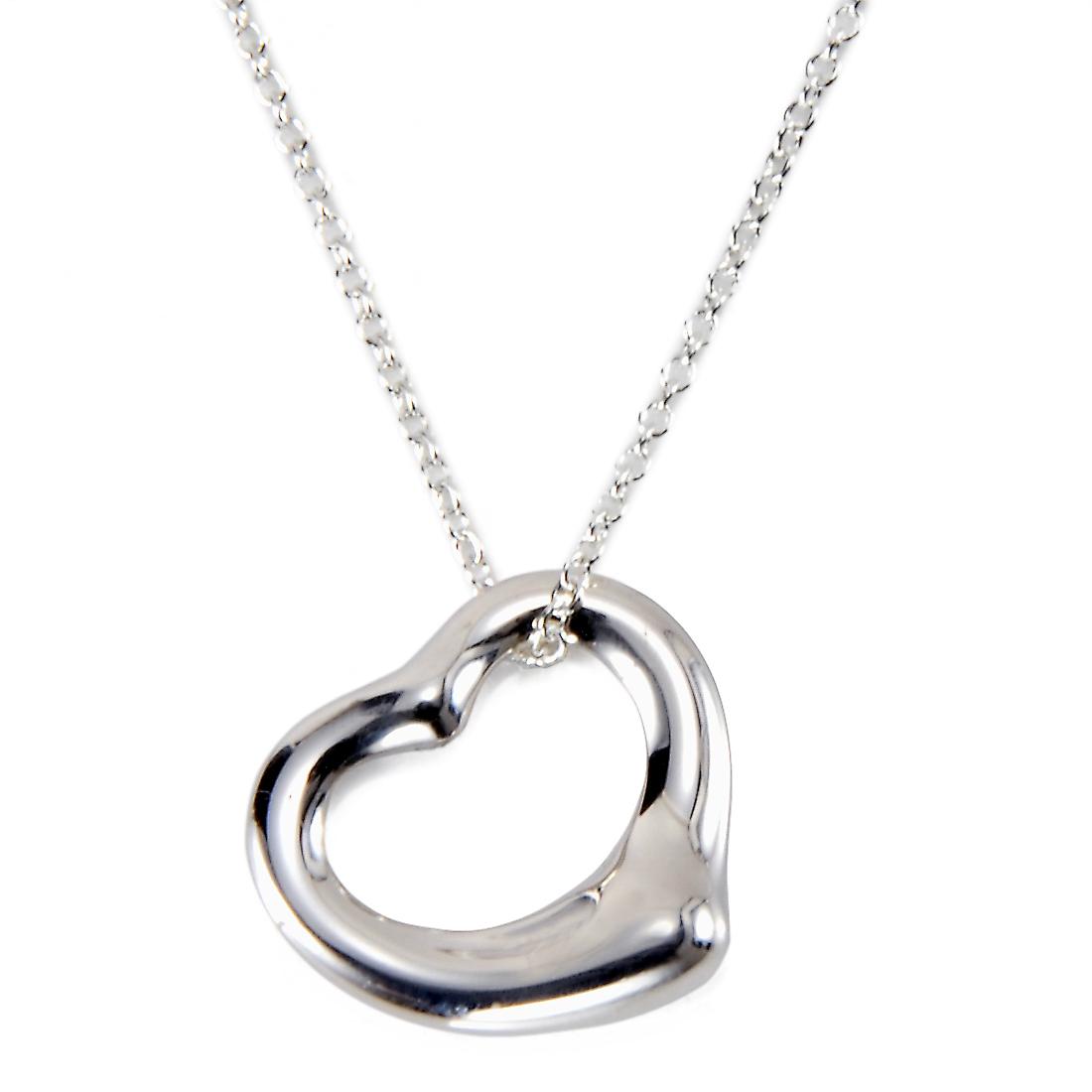 ティファニー Tiffany&Co. ネックレス レディース Open Heart オープン ハート ペンダント シルバー