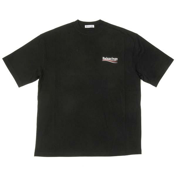 バレンシアガ Tシャツ ユニセックス カットソー 半袖 570791 TAV44 1000 ブラック