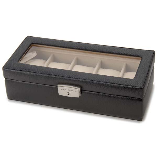 時計収納ケース 腕時計コレクションケース 時計ケース 公式 ロイヤルハウゼン Royal hausen 選択 ディスプレイケース 牛革使用 新品 腕時計時計コレクションケース ブランド品 5本用 WATCHCASE