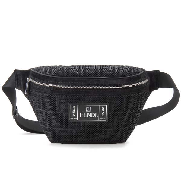 アーリーサマーセール フェンディ FENDI ボディバッグ メンズ レディース ブラック 7VA434 A7S8 F0GXN BELT BAG ウエストバッグ
