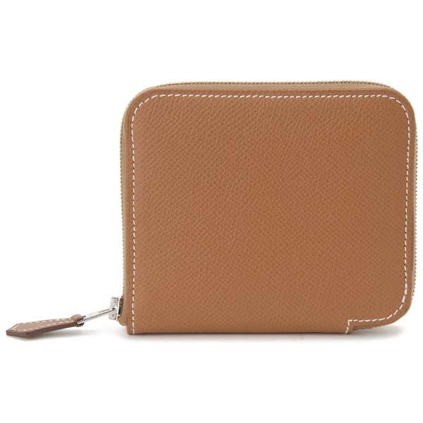 エルメス HERMES 二つ折り財布 ゴールド 077621CK AC シルクインコンパクト コインケース 小銭入れ