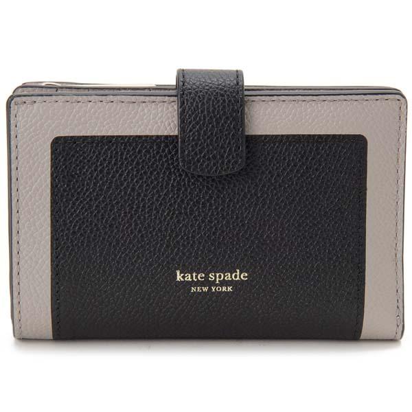 ケイトスペード KATE SPADE 二つ折り財布 レディース ブラック 黒 PWRU7419 106 財布