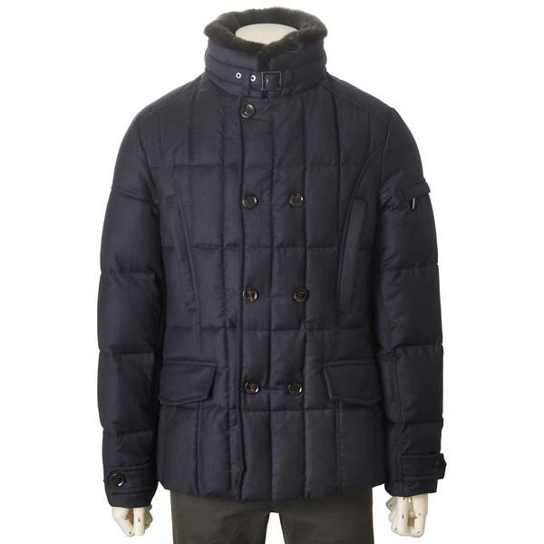 ムーレー MOORER ダウンジャケット メンズ ブルー ネイビー SIRO L1 ダウンコート