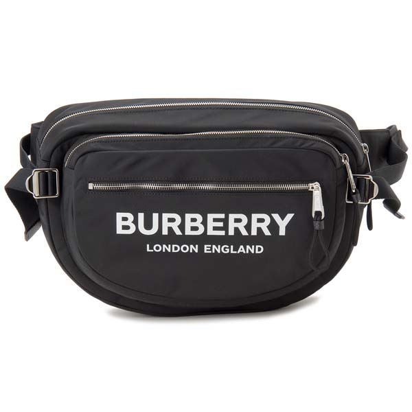 バーバリー BURBERRY ボディバッグ メンズ レディース ブラック 8017745 LG BUMBAG ウエストバッグ ウエストポーチ