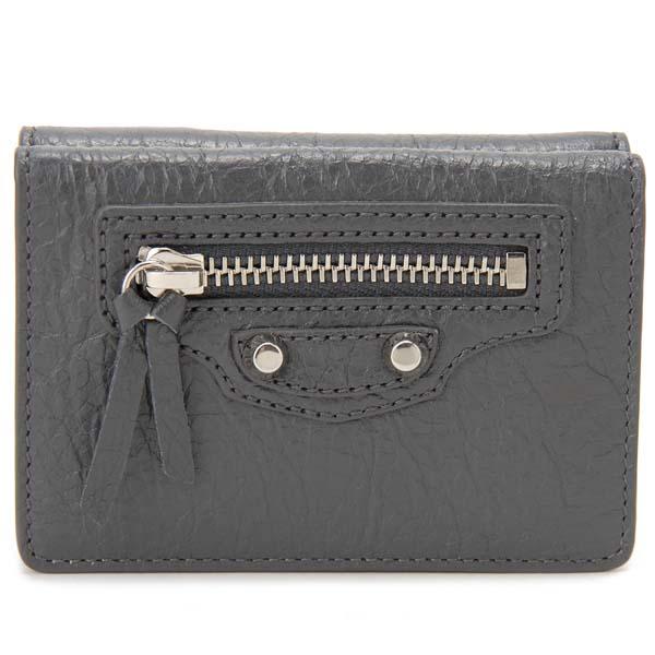 バレンシアガ BALENCIAGA 三つ折り財布 レディース グレー 477455 D940N 1110 クラシック ミニ