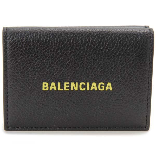 バレンシアガ BALENCIAGA 三つ折り財布 ブラック 594312 1IZF3 1072 コンパクト 財布
