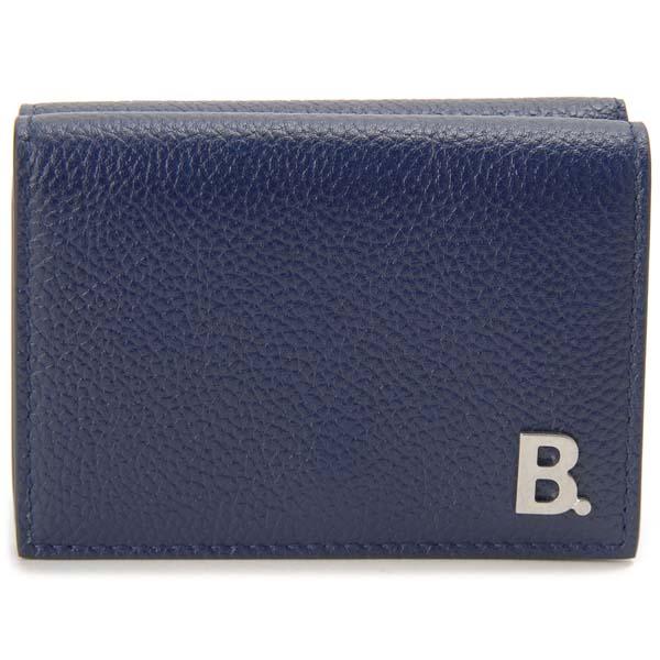 バレンシアガ BALENCIAGA 三つ折り財布 ネイビー 601350 1IZ03 4611 コンパクト 財布