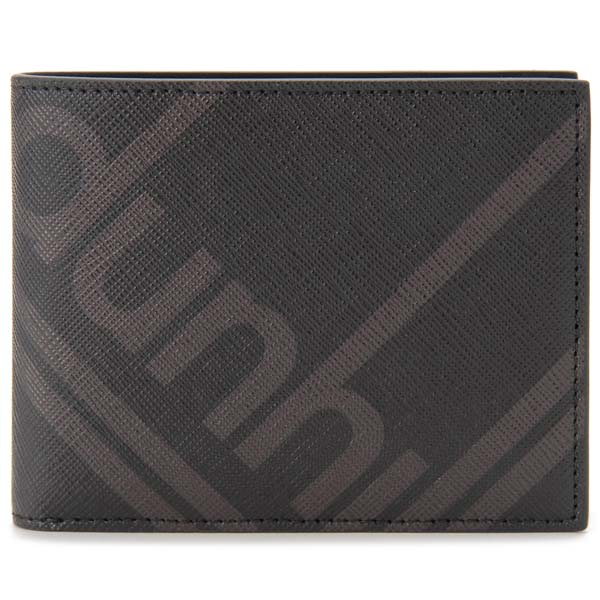 ダンヒル DUNHILL 二つ折り財布 メンズ ブラック DU19F2320SC 001 ラゲッジキャンバス 4CC&コインパース