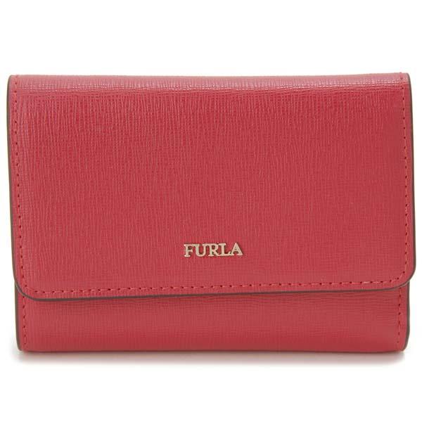 フルラ FURLA 三つ折り財布 レディース レッド 1046190 BABYLON バビロン コンパクト 財布