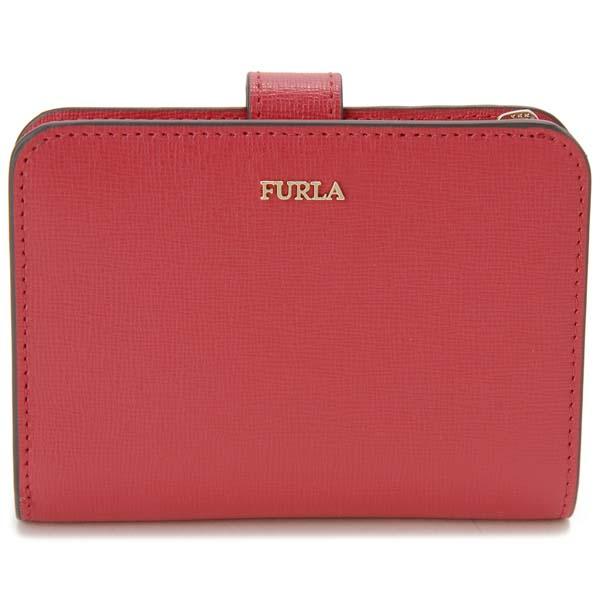 フルラ FURLA 二つ折り財布 レディース レッド 1046240 BABYLON S バビロン コンパクト 財布