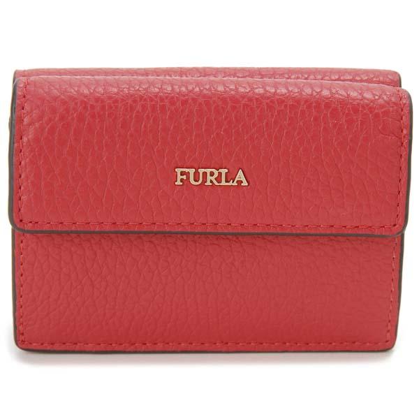 フルラ FURLA 三つ折り財布 レディース レッド 1046356 BABYLON S バビロン コンパクト 財布