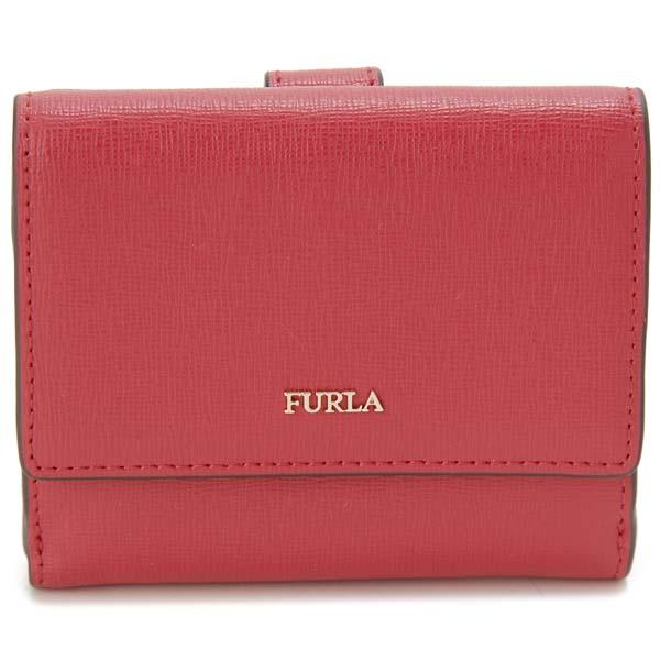 フルラ FURLA 二つ折り財布 レディース レッド 1047012 BABYLON S バビロン コンパクト 財布
