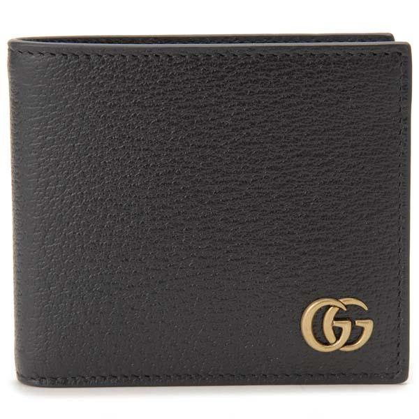 グッチ GUCCI 二つ折り財布 メンズ ブラック 428725 DJ20T 1000 GGマーモント ダブルG 財布