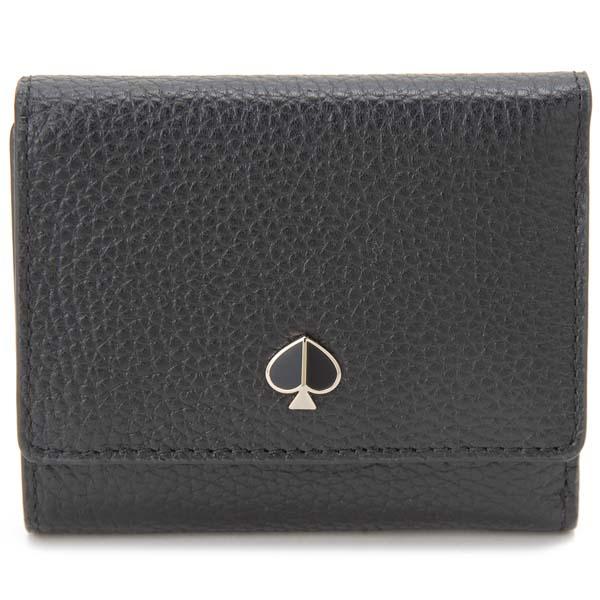 ケイトスペード KATE SPADE 三つ折り財布 レディース ブラック 黒 PWRU7316 001 財布