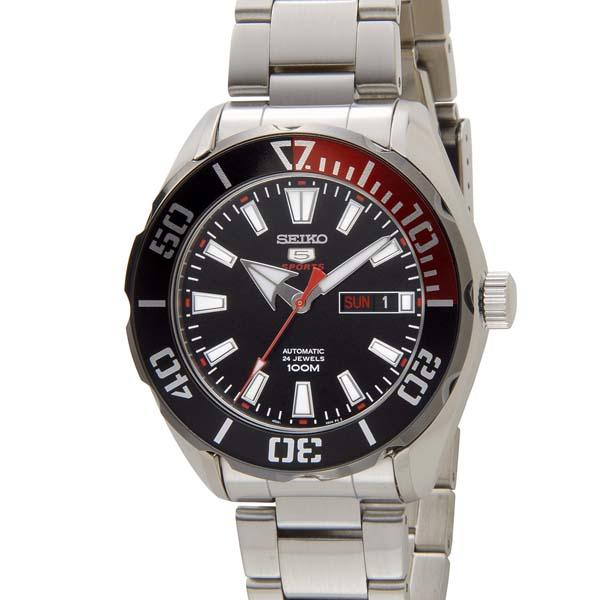 セイコー5 セイコーファイブ メンズ 時計 SRPC57K1 ブラック SEIKO セイコー 自動巻き 腕時計 ウォッチ [ポイント5倍キャンペーン][8/3~8/17]