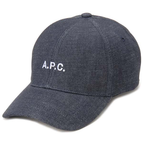 アーペーセー A.P.C. キャップ インディゴ 【60 / L】 M24069 LOGO CAP IAI INDIGO