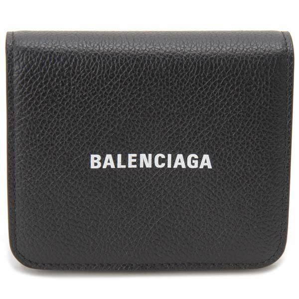 バレンシアガ BALENCIAGA 三つ折り財布 ブラック 593808 1IZ4M 1090 キャッシュ コンパクト財布
