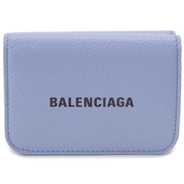 バレンシアガ BALENCIAGA 三つ折り財布 パープル 593813 1IZ43 5360 キャッシュ コンパクト財布
