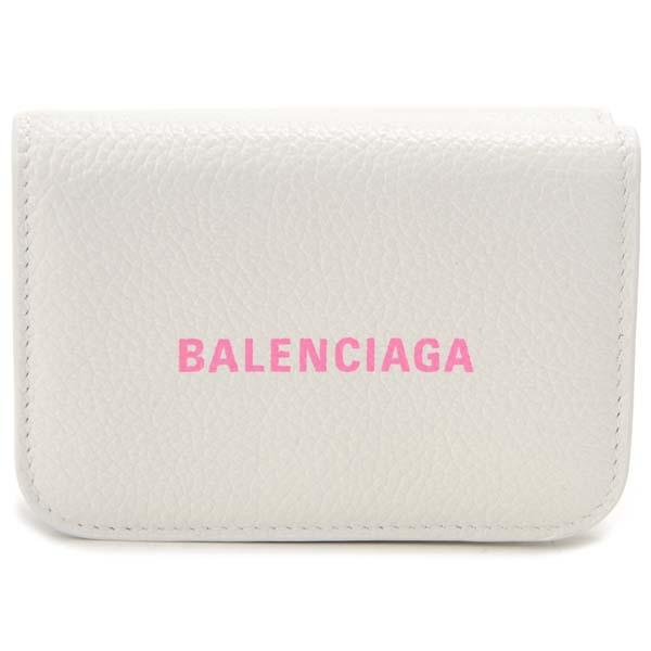 バレンシアガ BALENCIAGA 三つ折り財布 レディース ホワイト 593813 1IZF3 9066 コンパクト 財布