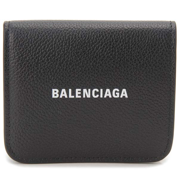 バレンシアガ BALENCIAGA 二つ折り財布 レディース ブラック 594216 1IZ4M 1090 コンパクト 財布