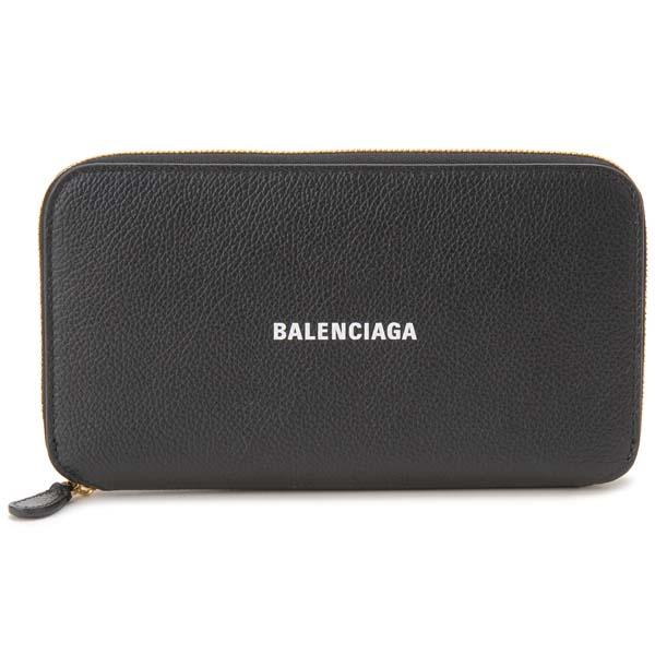 バレンシアガ BALENCIAGA ラウンドファスナー長財布 ブラック 594290 1IZ4M 1090 キャッシュ コンチネンタル