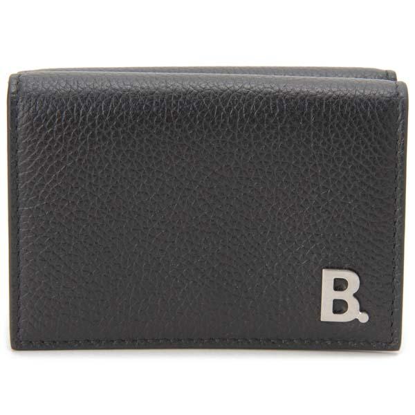 バレンシアガ BALENCIAGA 三つ折り財布 メンズ ブラック 601350 1IZ03 1000 B LOGO コンパクト財布
