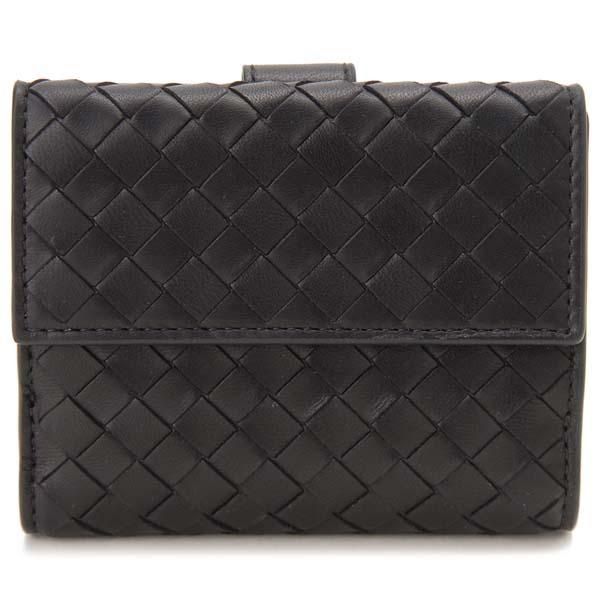 ボッテガ・ヴェネタ Bottega Veneta 二つ折り財布 レディース ブラック 382576 V001N 1000 イントレチャート