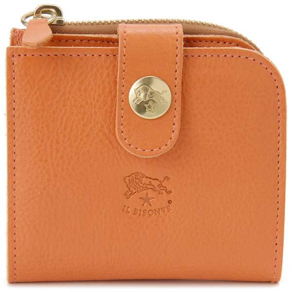 イルビゾンテ IL BISONTE 二つ折り財布 C0890 P 166 オレンジ メンズ レディース